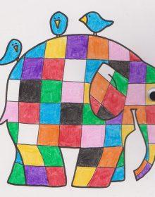 Elmer the Patchwork Elephant, by Patricia C Prada Jimenez
