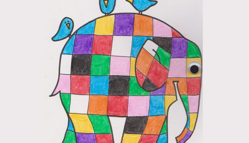 Elmer the Patchwork Elephant, by Patricia C Prada Jimenez
