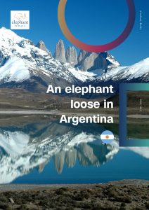 An elephant Mind loose in Argentina Laura foto