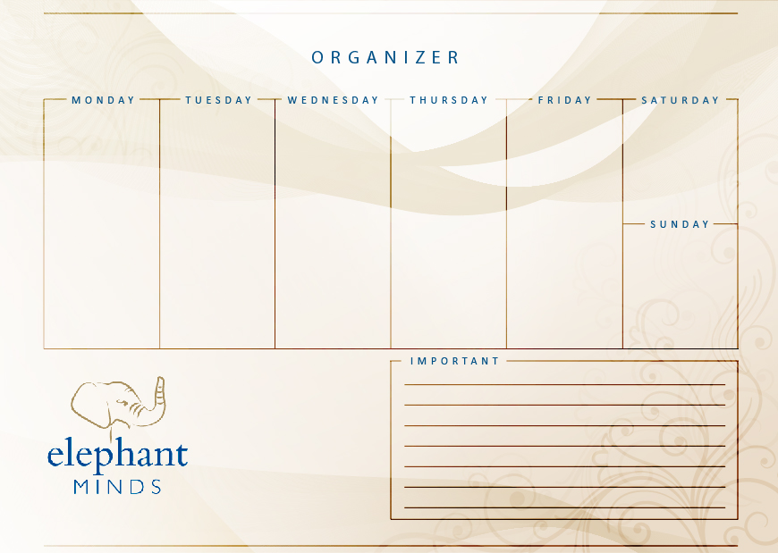 weekly organiser elephant minds