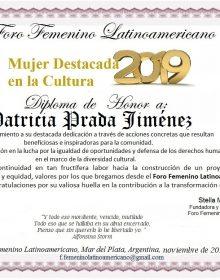 Patricia C Prada Jimenez, Special Award 2019